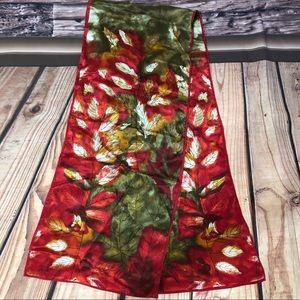 "VTG 10""x52"" Vera Neumann Autumn Leaves Silk Scarf"